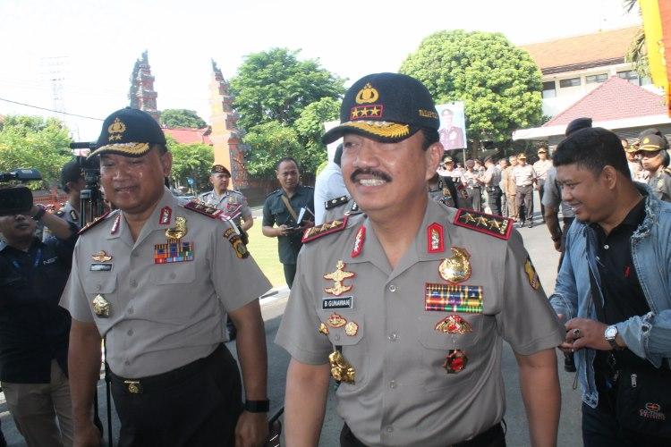 Waka Polri Komjen Pol. Budi Gunawan tiba di Mapolda Bali