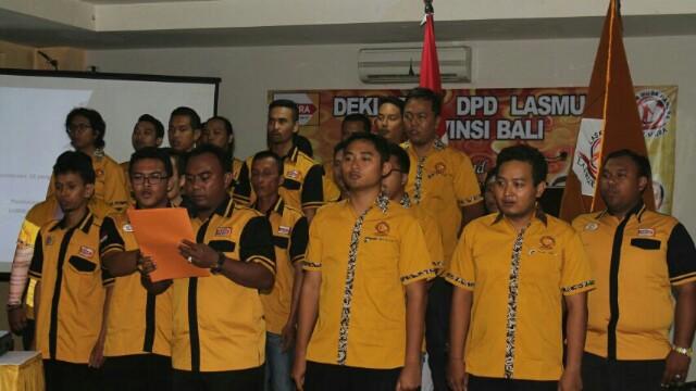 PELANTIKAN-Pengurus Lasmura Bali dilantik, di Denpasar, Sabtu, 15/07/2017.