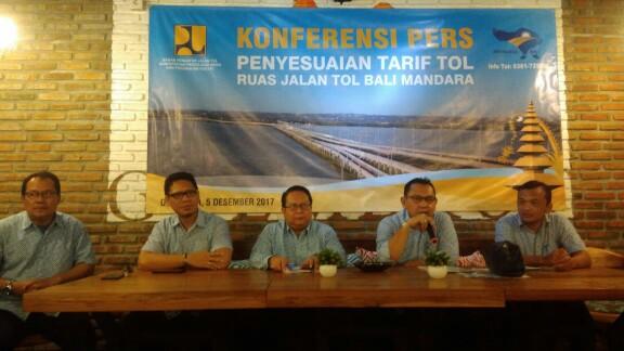 Jasamarga Bali Tol saat memberikan keterangan pers. Foto;ist
