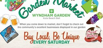 Wyndham Garden Kuta Beach Bali support local bussinesses by launching a weekly garden market.